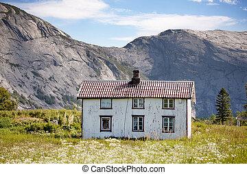 casa, vecchio, norvegia