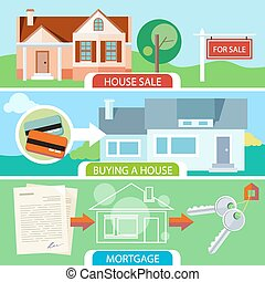 casa, venda, comprando, hipoteca