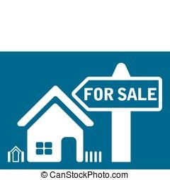 casa, vendita, icona