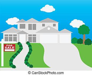 casa, vendita, illustrazione