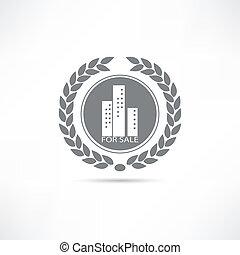 casa, venta, icono