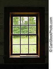 casa, ventana, viejo