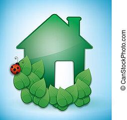 casa, verde, eco-amichevole
