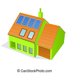 casa, verde, família