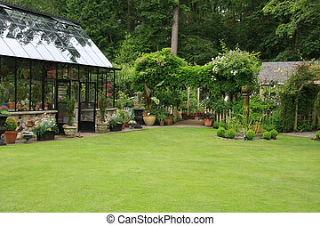 casa, verde, giardino