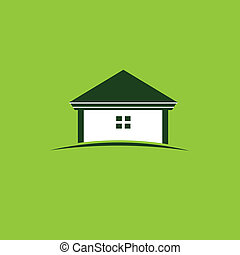 casa verde, immagine, logotipo