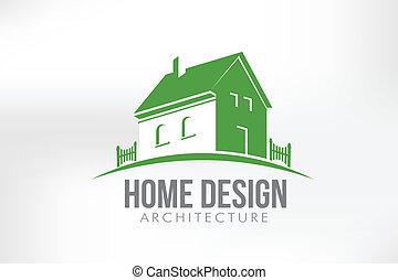 casa, vettore, disegno, illustrazione