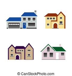 casa, vettore, icona