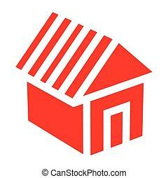 casa, vettore, illustrazione