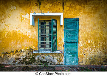 casa, vietnam., rua, antigas, gasto
