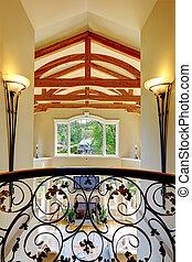 casa, vista, balcone, lusso, interior.