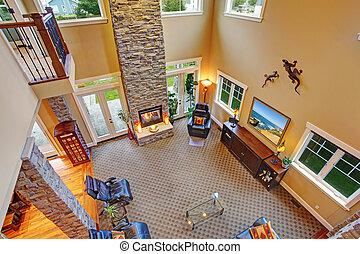 casa, vista, interior., lusso, panoramico
