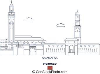 Casablanca Linear City Skyline, Morocco