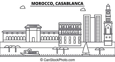 casablanca, illustration., strokes., editable, árnykép, ...