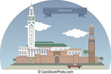 Casablanca, Morocco. Largest city of Morocco, located in the western part of the country