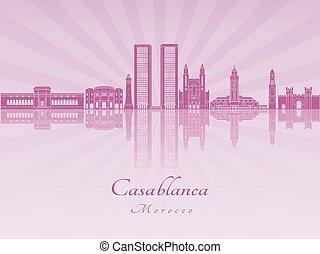Casablanca skyline in purple radiant orchid