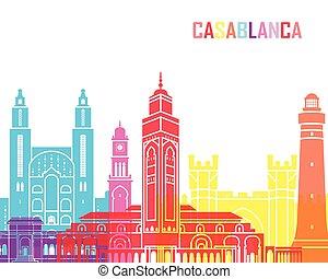 Casablanca skyline pop in editable vector file