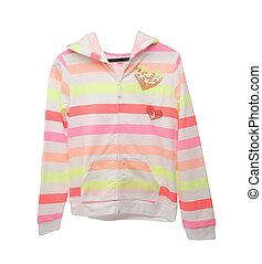 casaco, crianças, colorido