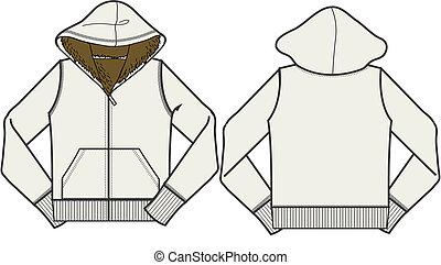 casaco, fleece, moda, senhora