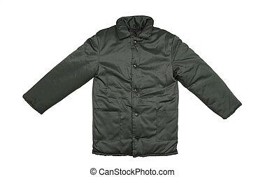 casaco, frente, pretas, vista