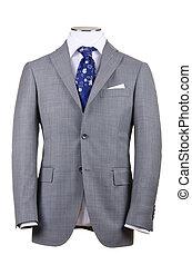 casaco, isolado, ligado, a, fundo branco