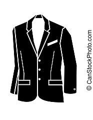 casaco, vetorial, ilustração