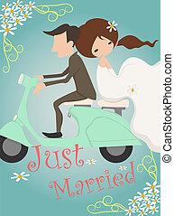 casado apenas, convite, desenho, casório, cartão