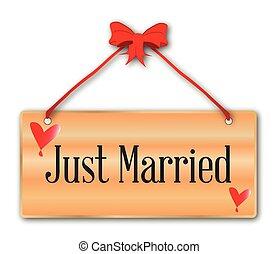 casado, sólo, señal