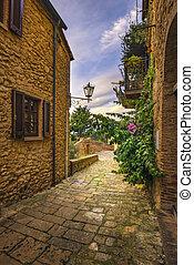Casale Marittimo old stone village in Maremma. Picturesque...