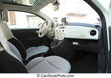 Fiat 500 - CASALE MONFERRATO, MARCH 10, 2015: inside a Fiat...