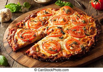 casalingo, crosta, vegan, cavolfiore, pizza