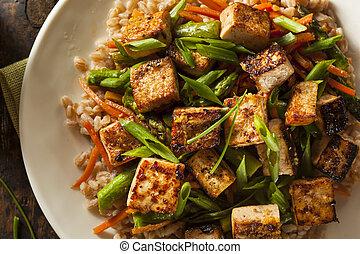 casalingo, tofu mescola frigge