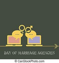 casamento, dia, agências