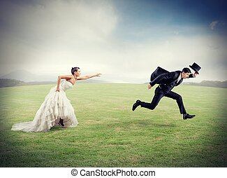 casamento, fuga