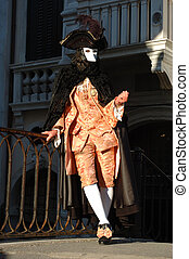 Casanova costume,Venice Carnival - Casanova costume during...