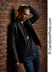 casanova man - Fashion shot. Handsome sexual young man ...