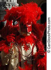Casanova mask at Venice carnival - Casanova mask at Carnival...