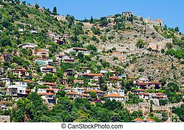 casas, alanya, turco