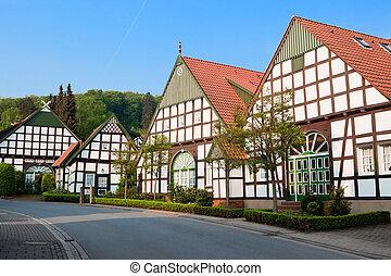 casas, alemania, aldea