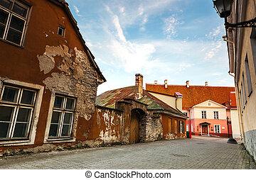 casas, antigas, tallinn