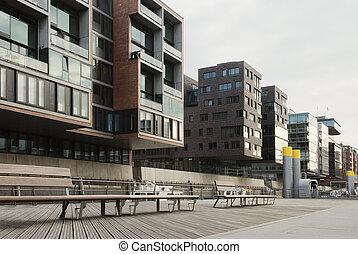 casas, apartamento, modernos