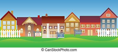 casas, en venta, y, ejecución hipoteca