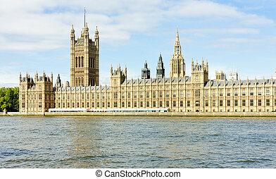 casas, grande, parlamento, gran bretaña, londres