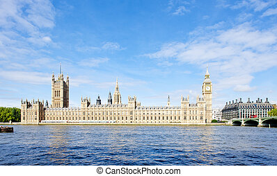 casas, grande, parlamento, inglaterra, londres
