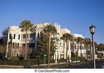 casas, histórico,  Charleston