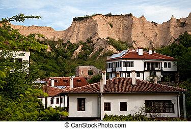 casas, melnik, viejo, bulgaria