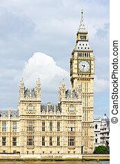 casas parlamento, e, ben grande, londres, grã bretanha