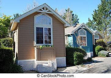 casas, pequeño, diminuto