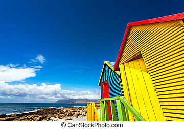 casas, praia, áfrica, sul, st.james