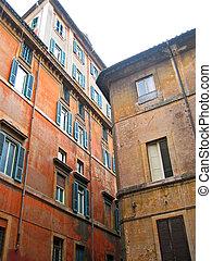 casas, Roma, antigas, típico